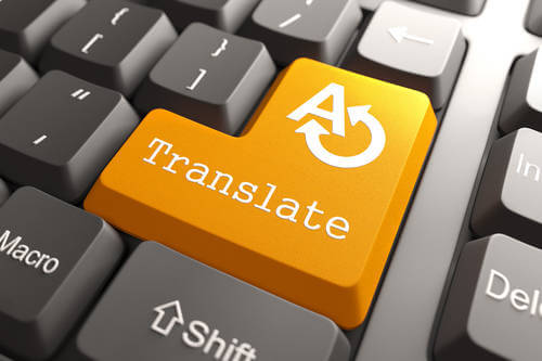 Orange Translate Button